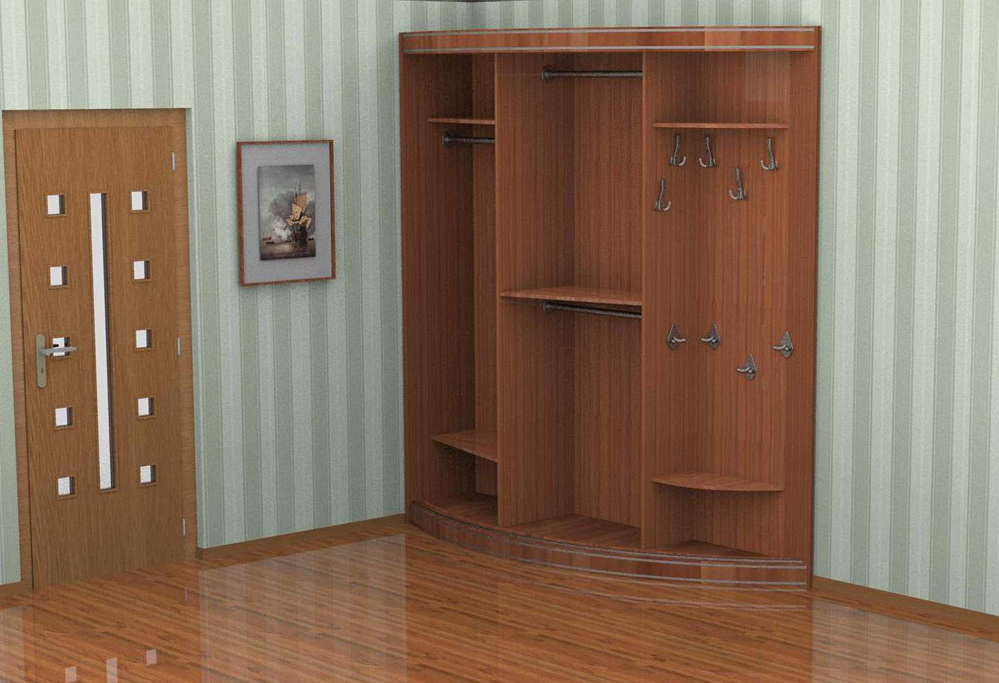 Радиусный шкаф купе рио (кожа).