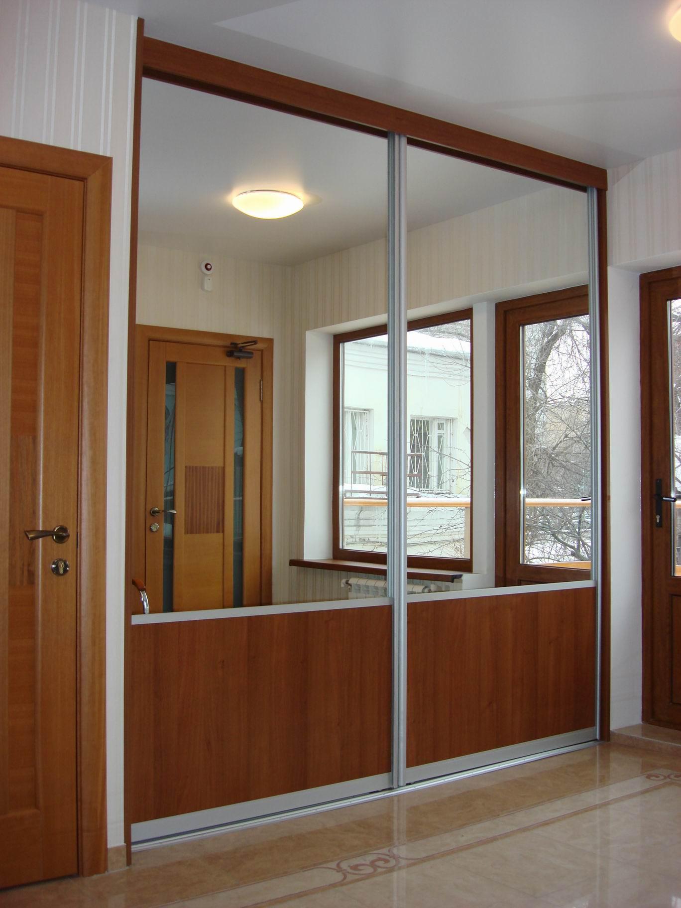 Комбинированные двери купе на заказ: купить двери для шкафа .